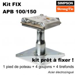 kit de fixation tout en un pour pied de poteau ! Hauteur réglable comprise entre 10 cm et 15 cm. Livraison sur toute la France !
