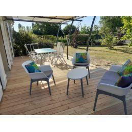 terrasse de douglas - 28x145 - bois naturel et lisse - qualité standard