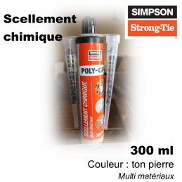 scellement chimique multi matériaux - 300ml - ton pierre