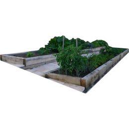 Aménager son jardin avec les traverses en chêne - 100mm x 200mm en 2m