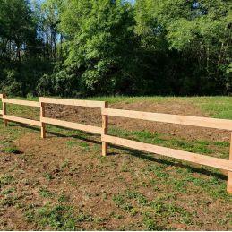chevron douglas clôture palissade extérieure