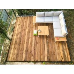 terrasse douglas déclassé - 28x145mm - bois sec et raboté