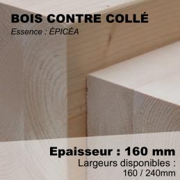 bois contre collé épicéa naturel en 160mm
