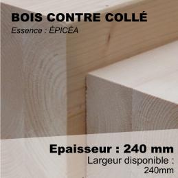 contre collé pour construction bois stable - poteau 240x240 au ml