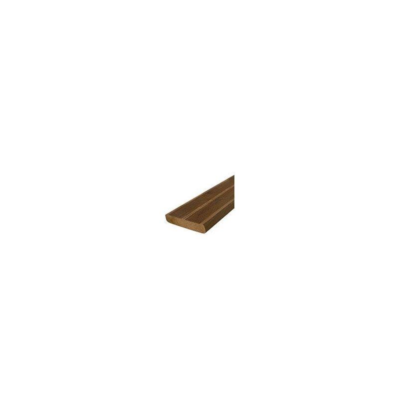 Lame terrasse en pin traité classe 4 - finition striée avec 2 peignes