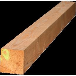 poteau 15x15cm en 4m - douglas brut pour charpente , structure en bois solide - bon rapport qualité/prix