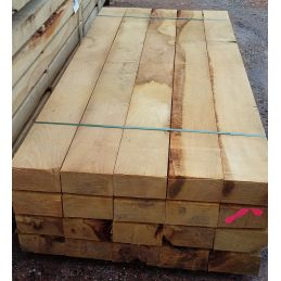 Traverse Paysagère en Chêne - 130x220mm en 2,60m - Bois non Traité