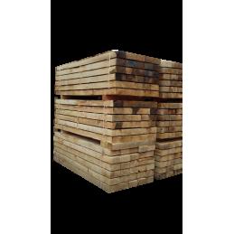 Traverse en chêne type traverse de chemin de fer - 100 x 200 en 2,40 m. traverse bois