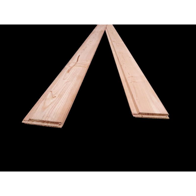 bardage / clin douglas naturel - 21mm d'épaisseur - bardage à fixation visible 100% français !
