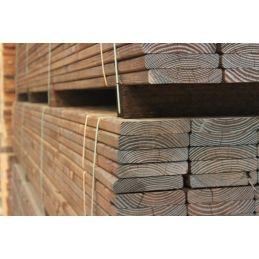 Bois douglas pour terrasse lisse traitées autoclave marron - 26x140mm en 4m
