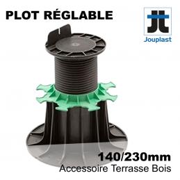 plot PVC Jouplast pour terrasse bois - réglable de 14 cm à 23 cm