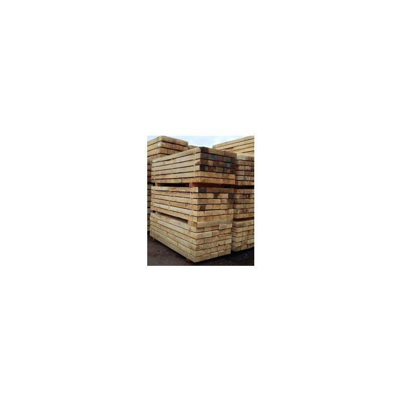 vente en gros - palette de traverses bois pas chères  livraison sur toute la france ! traverse 100x200mm en 2m40 - chêne massif